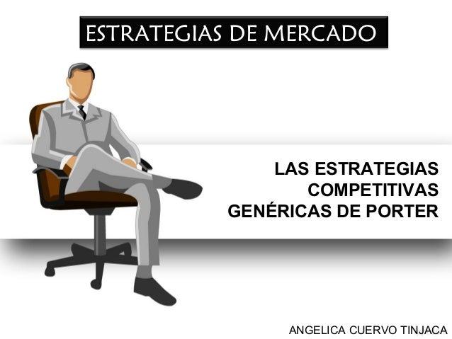 ESTRATEGIAS DE MERCADO  LAS ESTRATEGIAS COMPETITIVAS GENÉRICAS DE PORTER  ANGELICA CUERVO TINJACA