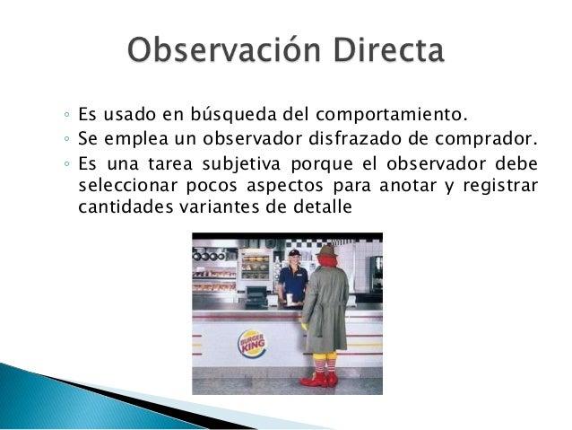 estructuradaObservación  directa                   No              estructurada