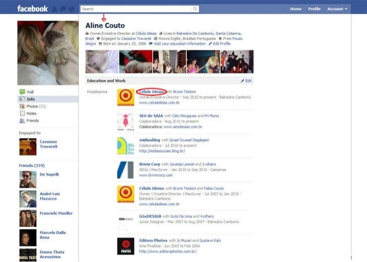 Facebook Marketing - ExpOn 2011 - @alineideias Slide 2