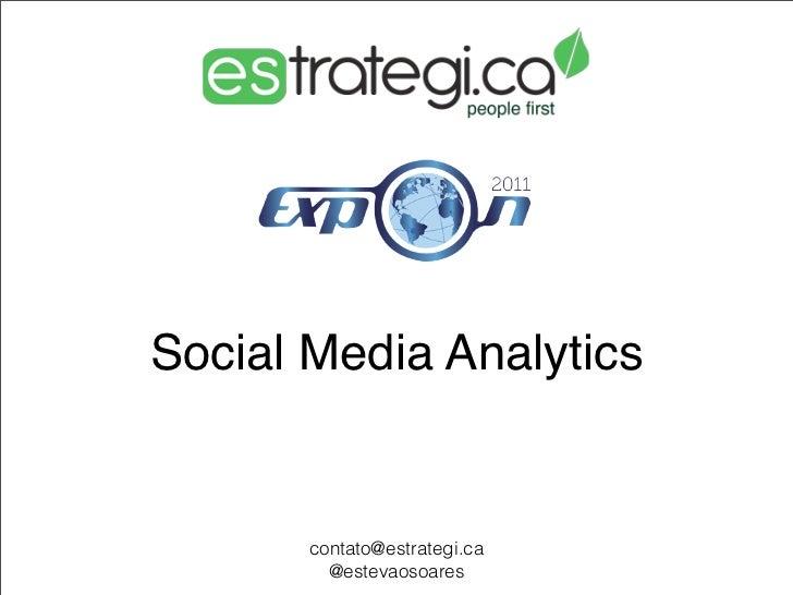 Social Media Analytics       contato@estrategi.ca         @estevaosoares