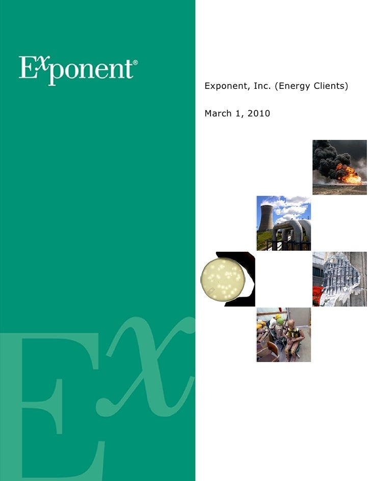 Exponent, Inc. (Energy Clients)   March 1, 2010