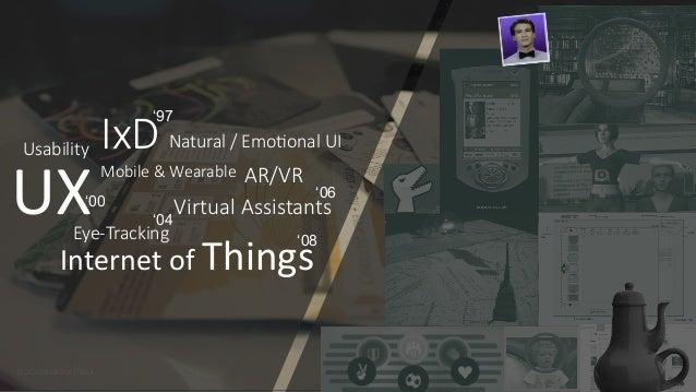 © DESIGN GROUP ITALIA © DESIGN GROUP ITALIA  UX  Internet of Things  IxD  Virtual Assistants  Eye-‐Trackin...
