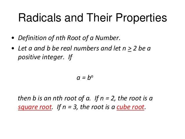 Exponential Form - Radicals