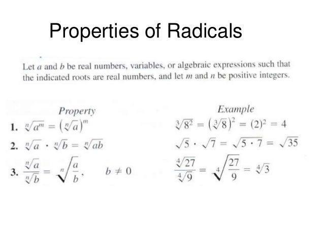 Exponential Form Radicals