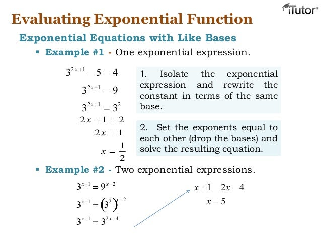 exponential funtions Exponential functions grow exponentially—that is, very, very quickly two squared is 4 2 cubed is 8, but by the time you get to 2 7, you have, in four sm.