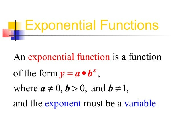 how to find b in an exponential function