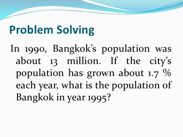 solving population growth problems