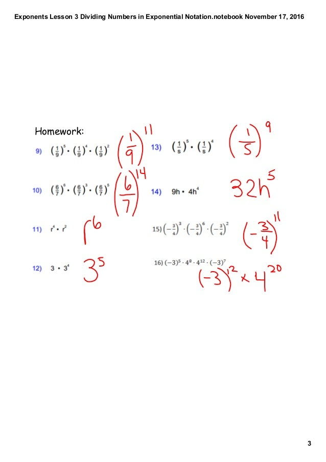 how to add numbers with exponants