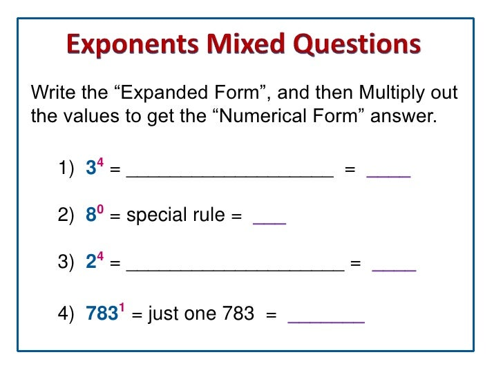 how to write indices in expanded form and evaluate