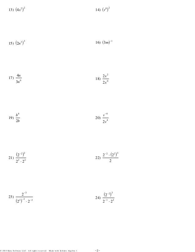 Exponents Worksheet Kuta multiplying exponents worksheet kuta – Properties of Exponents Worksheet Answers