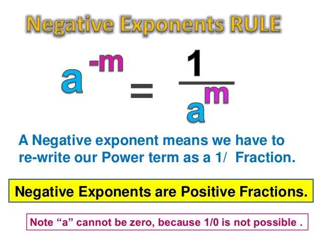 zero and negative exponents worksheet pdf
