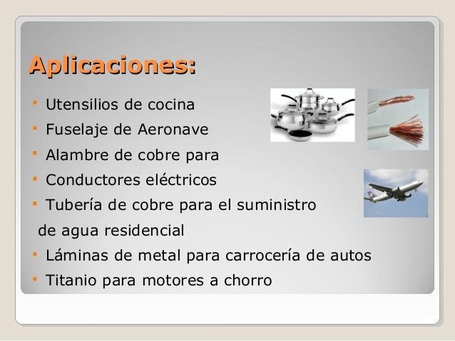 Material no ferrosos for Utensilios y materiales de una cocina de restaurante