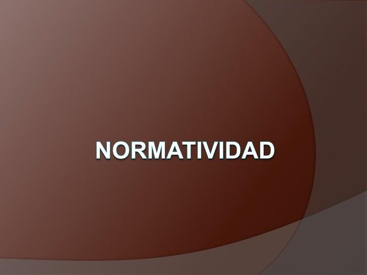 nORMATIVIDAD<br />