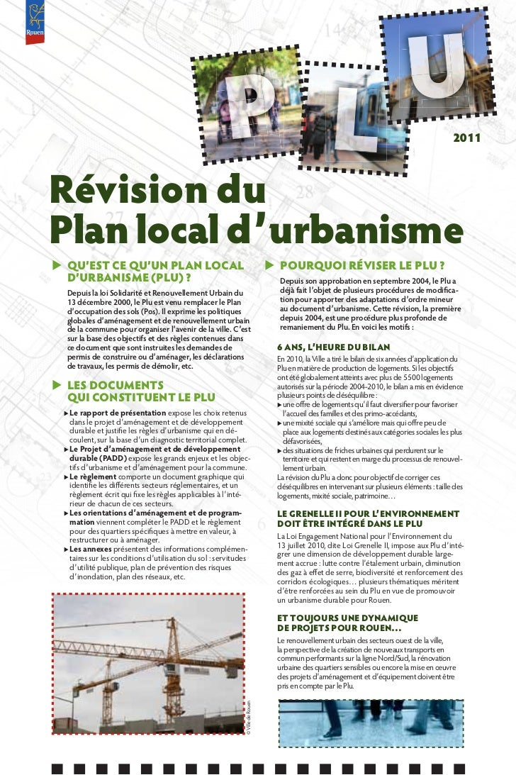 2011Révision duPlan local d'urbanismeX QU'EST CE QU'UN PLAN LOCAL                                                   X POUR...