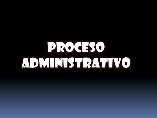 Procesoadministrativo
