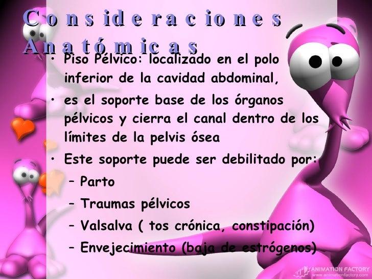 Consideraciones Anatómicas <ul><li>Piso Pélvico: localizado en el polo inferior de la cavidad abdominal,  </li></ul><ul><l...
