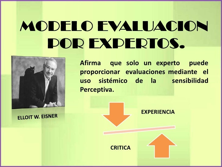 Afirma que solo un experto puedeproporcionar evaluaciones mediante eluso sistémico de la        sensibilidadPerceptiva.   ...