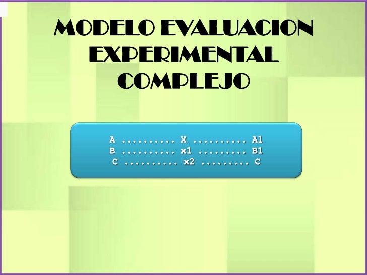 MODELO EVALUACION  EXPERIMENTAL    COMPLEJO