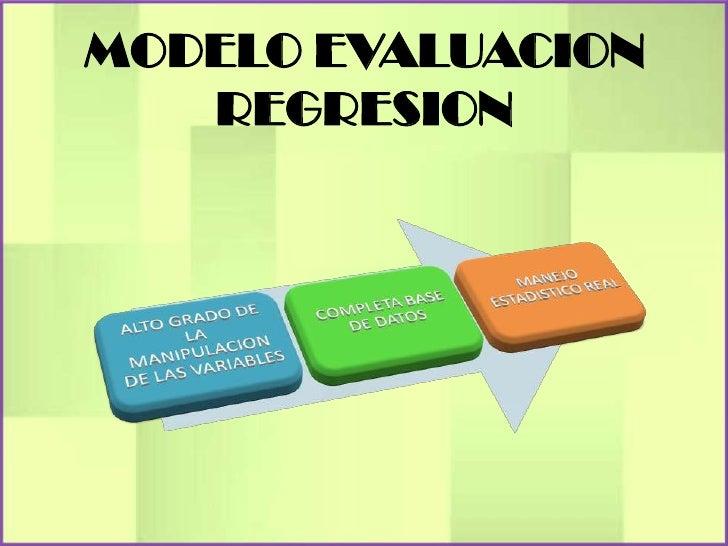 MODELO EVALUACION   REGRESION