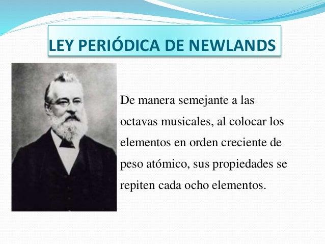 8 ley peridica de newlands - Tabla Periodica Newlands