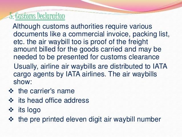 air way bill