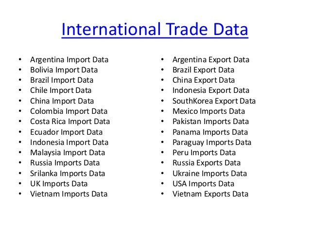 Export Import Data Company - Presented by Cybex Exim Solutions