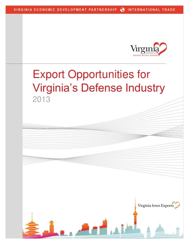 Export Opportunities for Virginia's Defense Industry 2013