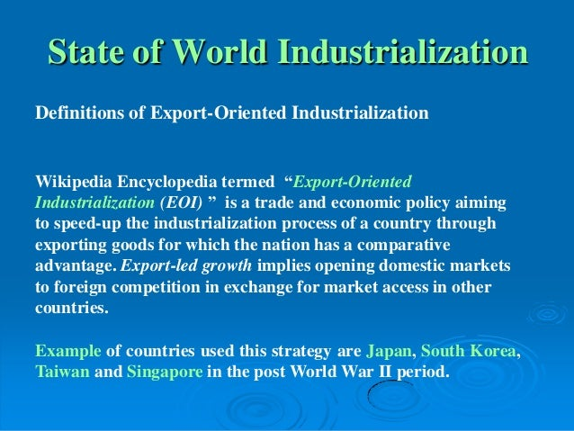 export led growth definition