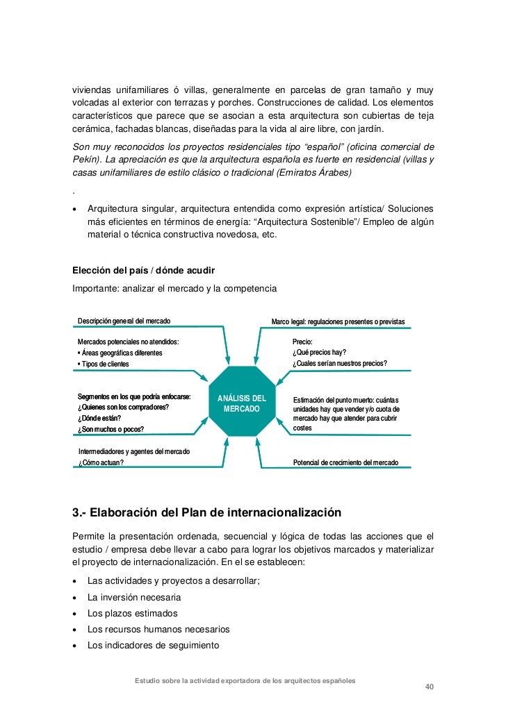 Exportaci n servicios de arquitectura - Servicios de arquitectura ...