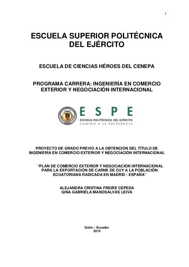 Exportacion del cuy ecuador