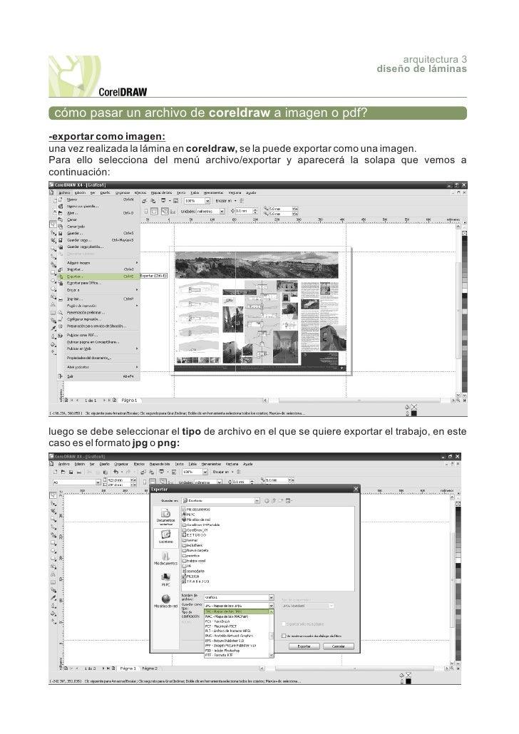 arquitectura 3                                                                         diseño de láminas     cómo pasar un...