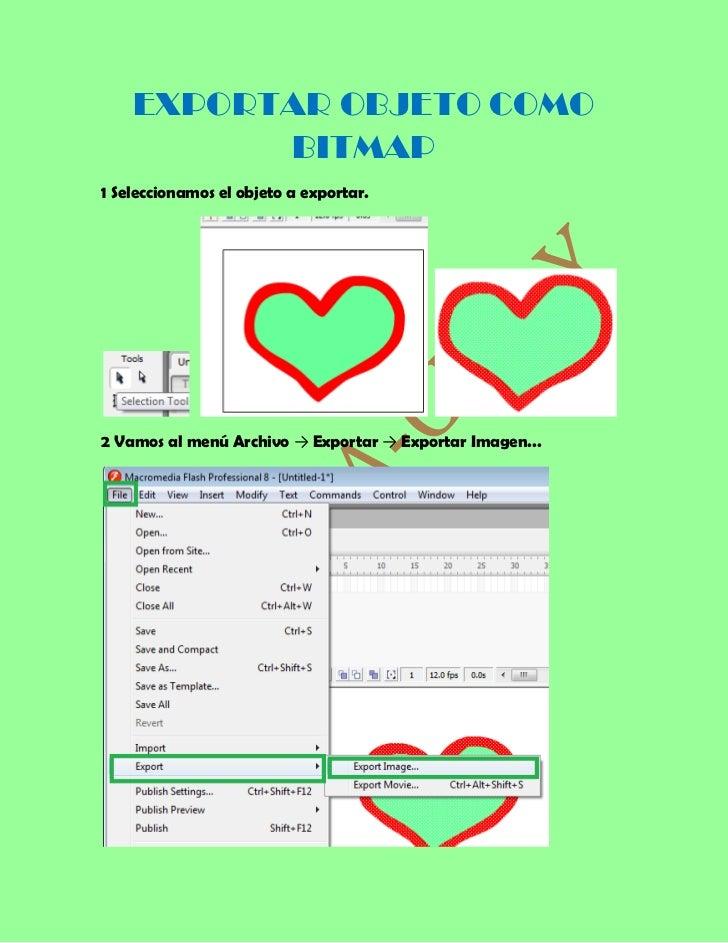 EXPORTAR OBJETO COMO          BITMAP1 Seleccionamos el objeto a exportar.2 Vamos al menú Archivo → Exportar → Exportar Ima...