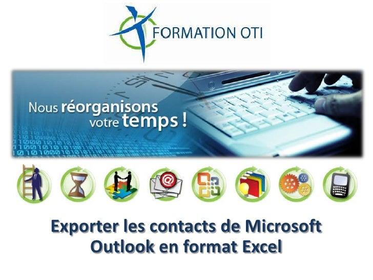 Exporter les contacts de Microsoft Outlook en format Excel<br />