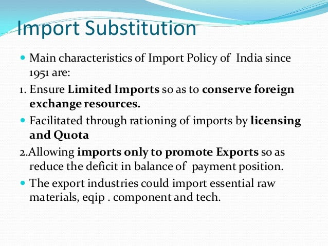 export led or import substitution Export led growth strategy or import substitution economics essay the accent that countries have placed in their development schemes in favour of either export led growing scheme or import permutation has influenced the development of current history balances and growing of end product.