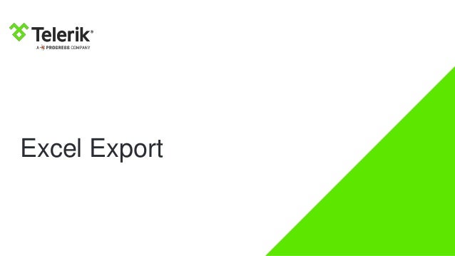 Export Data Easily With Kendo UI