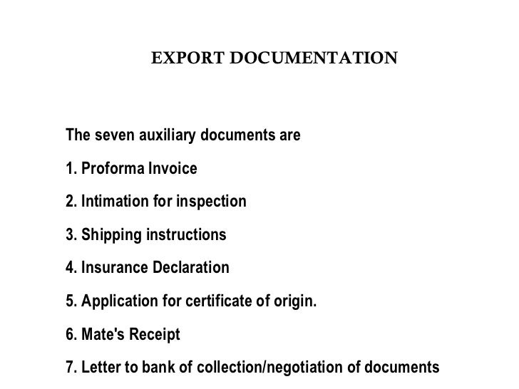 export procedures The purpose of this export clearance procedure is to provide instructions and ensure there is a standard method to facilitate the exporting of goods in compliance with all federal export regulations.