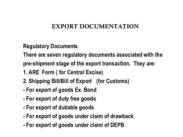gr form for export meaning