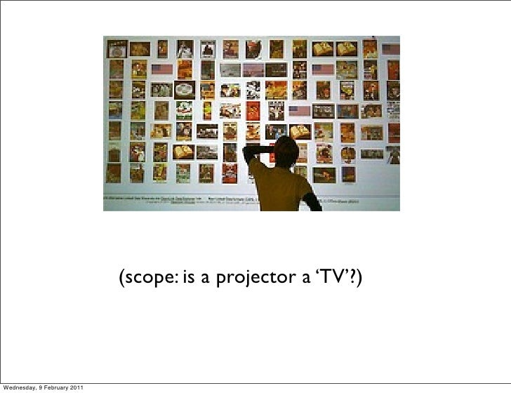 (scope: is a projector a 'TV'?)Wednesday, 9 February 2011