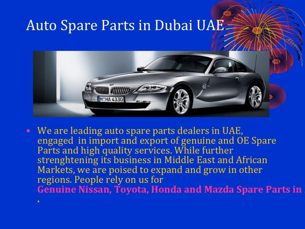 Exporter of genuine spare parts in dubai uae