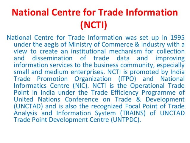 Unctad - trade analysis information system (trains)
