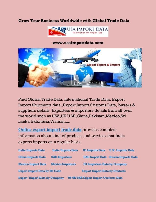 Export import data,import export customs data,indian shipments data