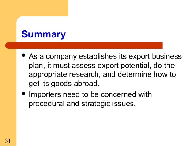 export business plan ppt example