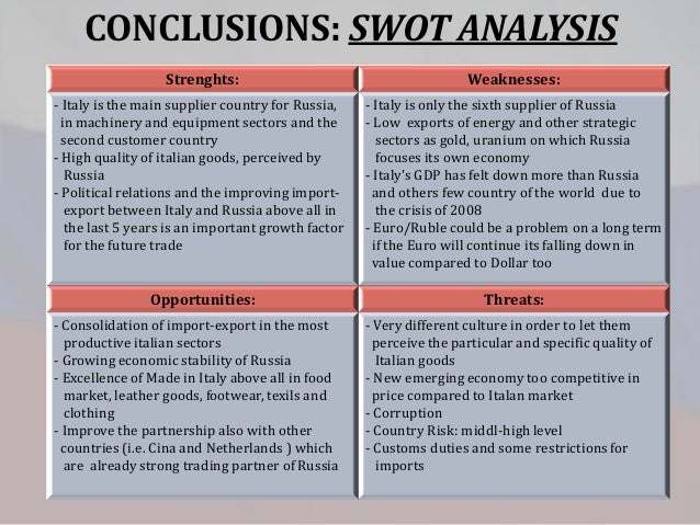 swot analysis of russia economy Swot analysis: russia vs croatia before russia takes on croatia in a quarterfinal match-up, here's how the teams are stacked against each other.