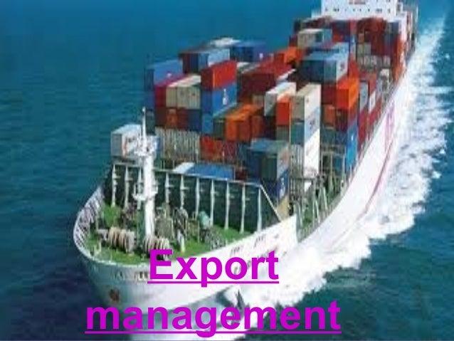 12-1 Export management