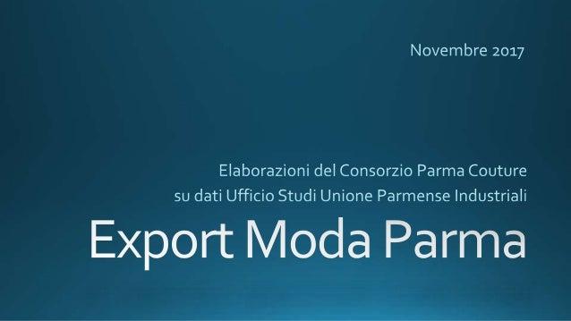 Export Moda Parma: elaborazioni 2017