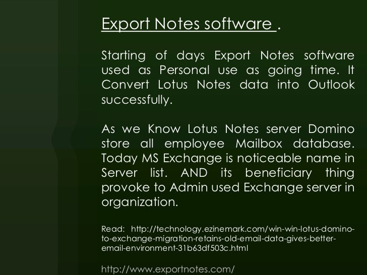 Export Notes with Trial version Slide 2