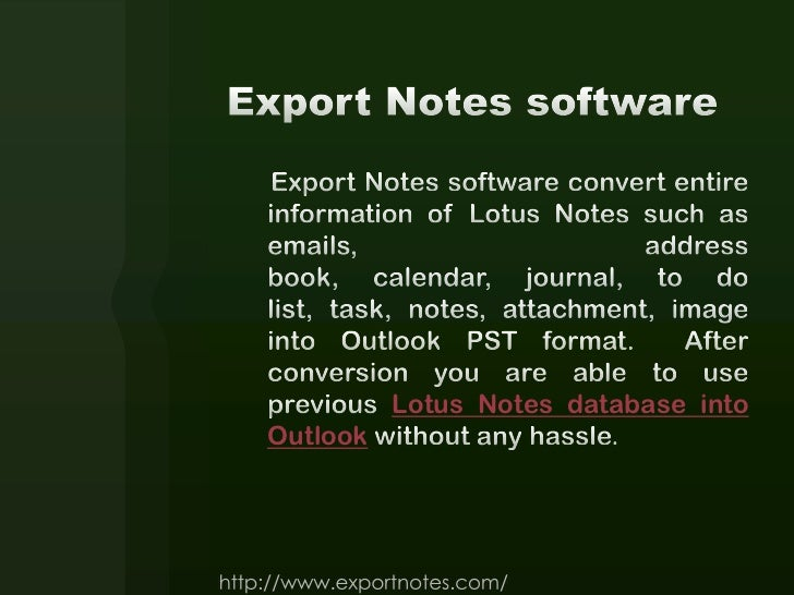 Export Notes with Trial version Slide 3