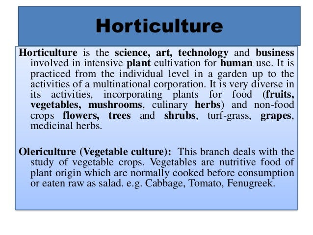Horticulture and Landscape Architecture