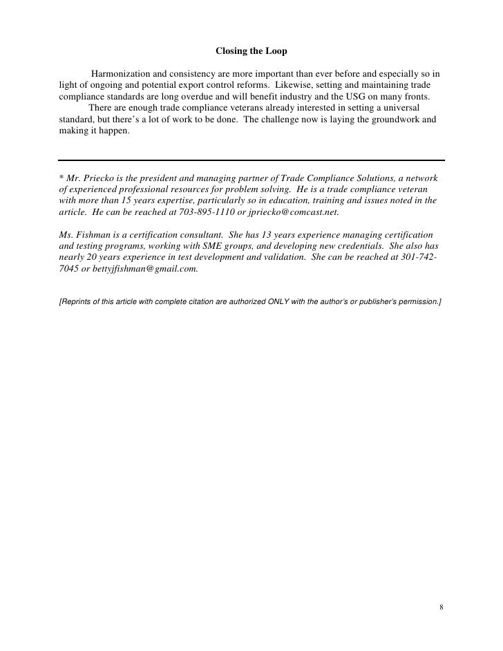 Export Practitioner Certification Article