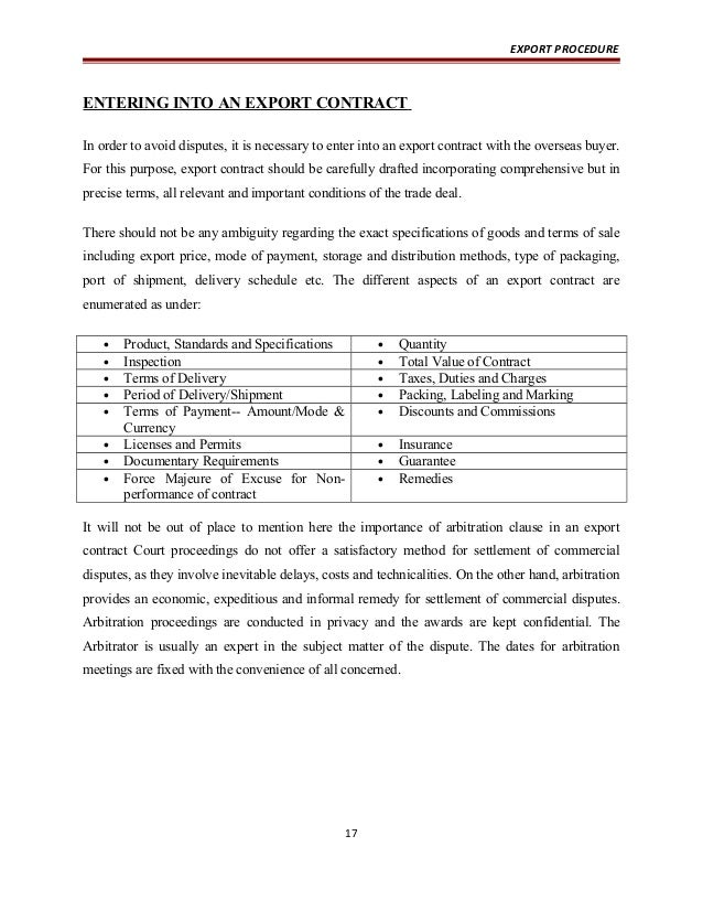 Doc.#511715: Export Contract Sample – Export Contract Template (+